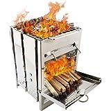 Amazon.com: REDCAMP Barbacoa de carbón para exteriores con ...