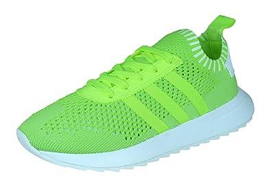 Adidas Originals FLB PK Flashback PrimeKnit Damen Trainer Schuhe gelb