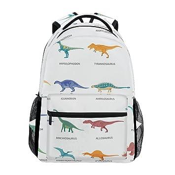 Amazon.com: Mochila Escolar Dinosaurios Bolso de Colores ...