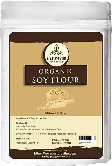 Naturevibe Botanicals – harina de soja orgánica, 5.6 lbs sin ...