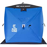Clam 14474 C-360 Portable 6 Foot Pop Up Ice Fishing Angler Hub Shelter Tent