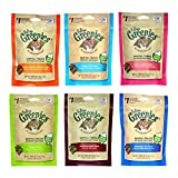 Greenies Dental Cat Treat Variety Bundle - Tuna, Salmon, Ocean Fish, Beef, Chicken, and Catnip Flavor - 2.1 oz. Each (6 Total Pouches - 1 of Each Flavor)