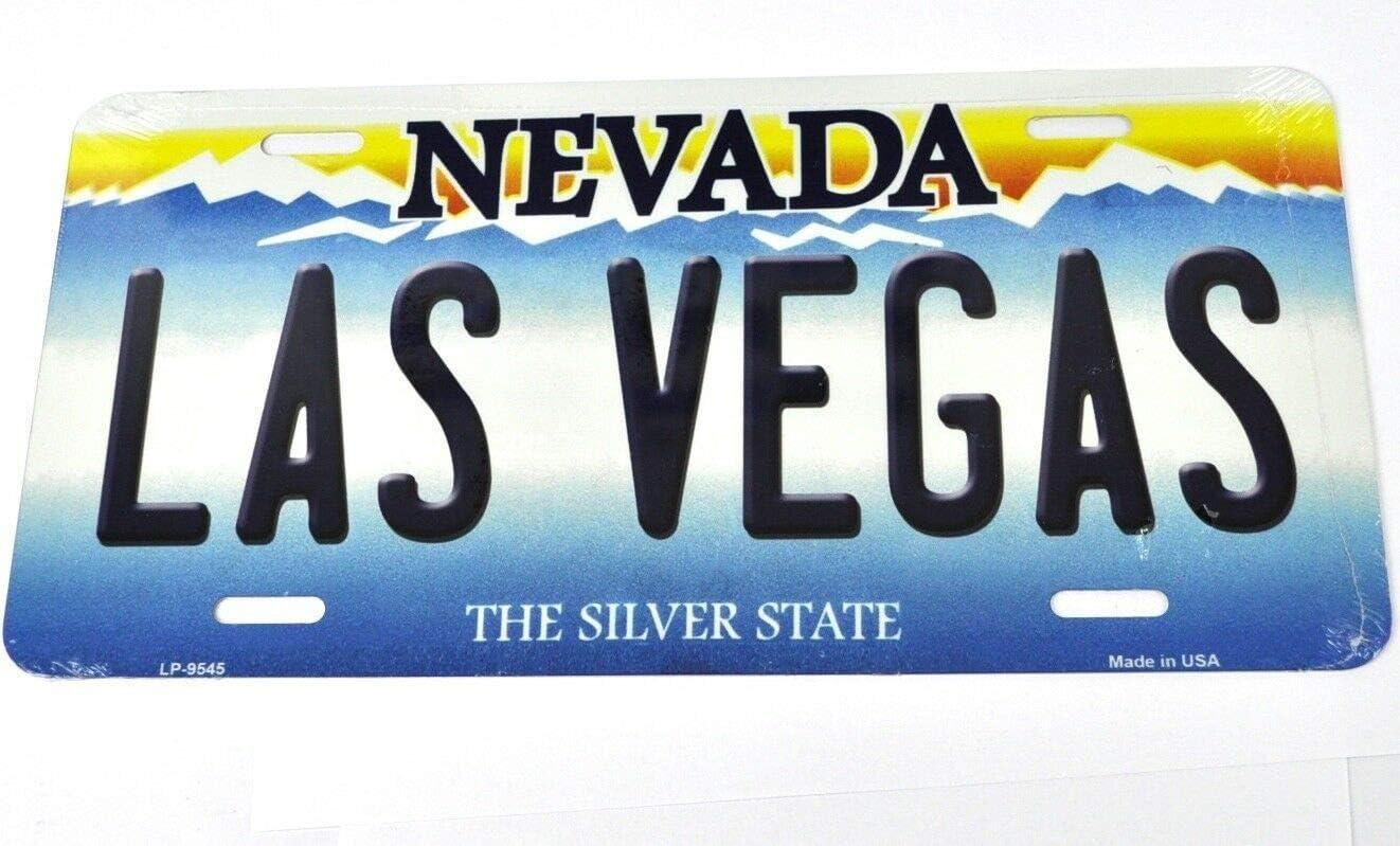 decoraci/ón de placa de matr/ícula de coche 6 x 12 pulgadas MNUT Nevada Las Vegas placa de matr/ícula de coche