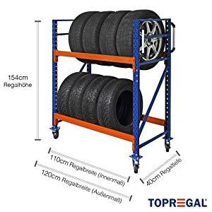 Reifenregal fahrbar von Topregal