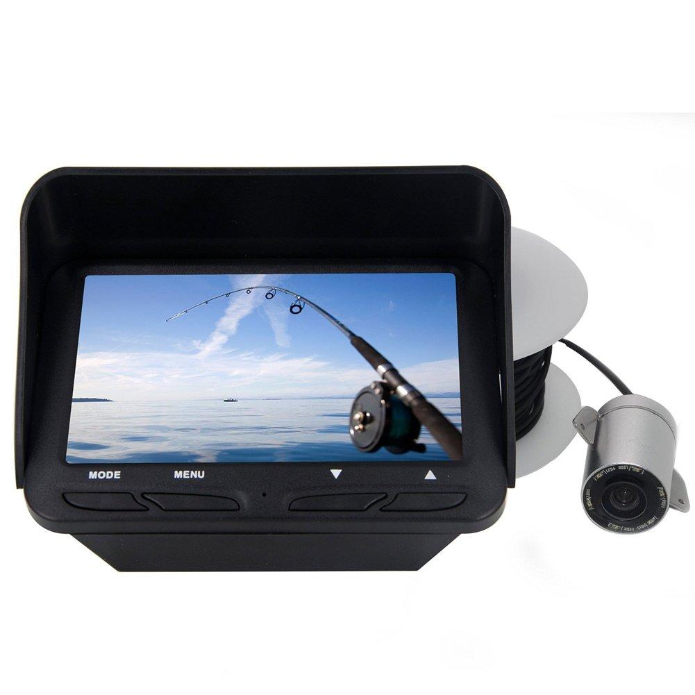 Snail Shopオリジナル20メートルプロフェッショナルデュアルカメラ/魚群探知機 Snail/水中釣りビデオカメラ/4.3