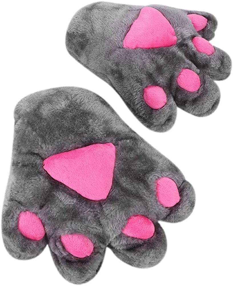 Women Winter Cat Paw Bear...