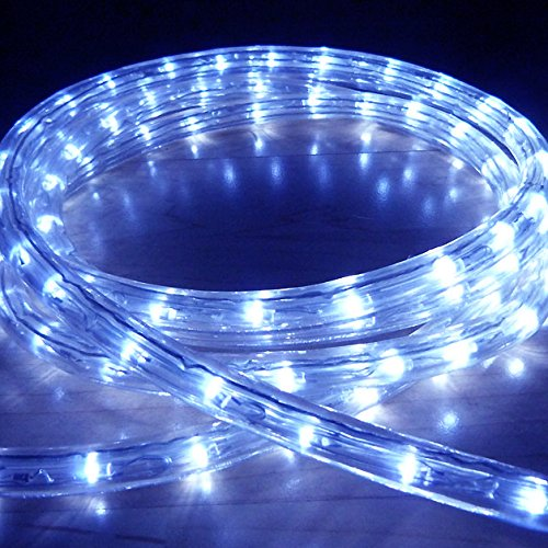 Blue 50 Metre LED Rope Light, High Quality Outdoor LED Rope Lights which are ideal for Christmas Lights, Xmas Lighting, Garden Lights, etc... (1800 LED's and effects such as static, chase, twinkle, fade, etc...) Discount LED's BL-50M
