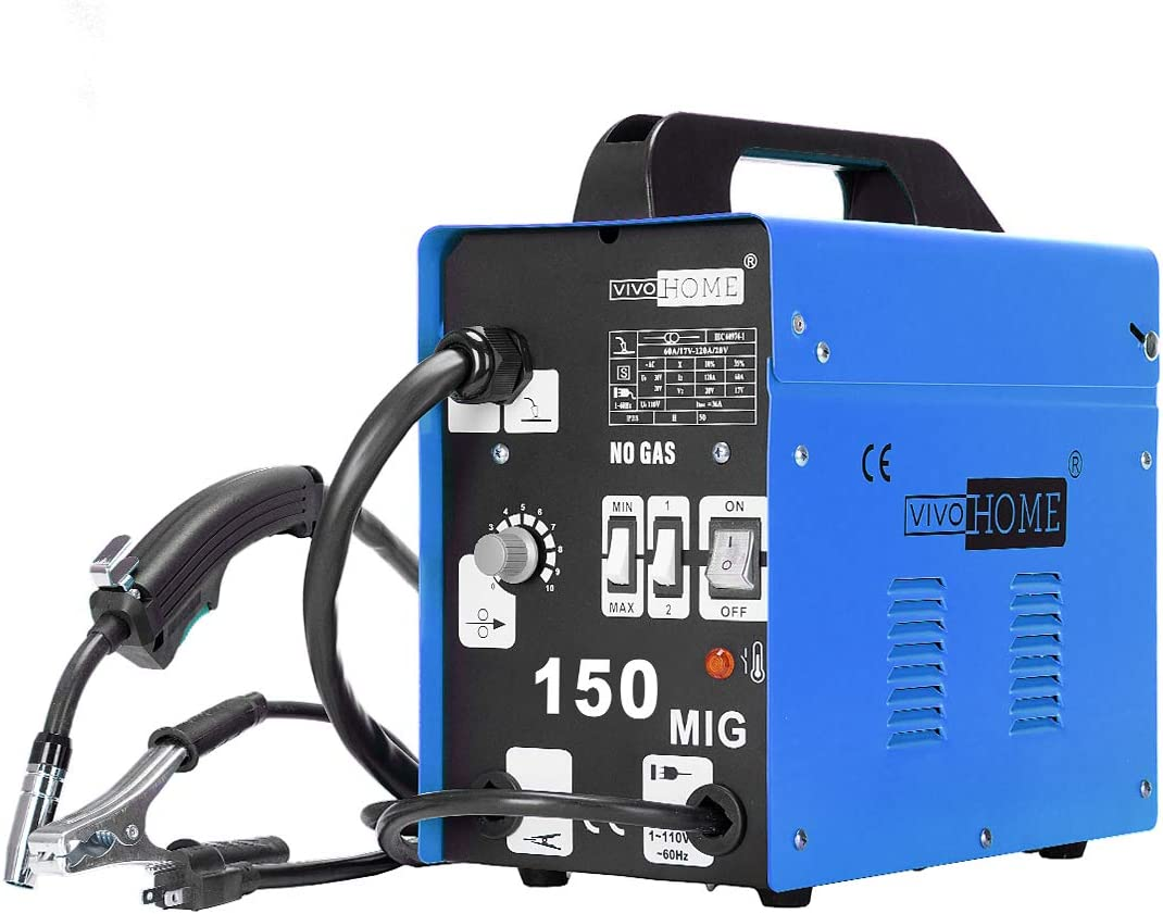 The top welding unit with adjustable welding speed: VIVOHOME Welding Machine 80-150A