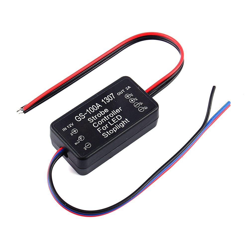 Yosoo GS-100A Car LED Brake Stop Bulb Light 12V-24V Strobe Flash Module Controller Box yosoo-shache