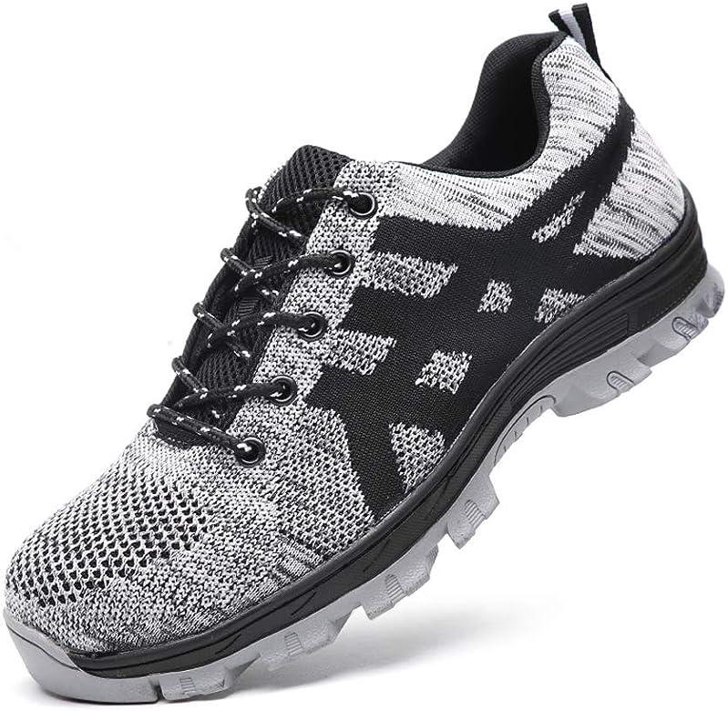 Zapatos de Seguridad para Hombre Mujer con Puntera de Acero Zapatillas de Seguridad Trabajo Calzado de Industrial y Deportiva grey35: Amazon.es: Zapatos y complementos