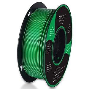 ERYONE PLA 3D Printer Filament, Dimensional Accuracy +/- 0.05 mm 1kg (2.2LBS)/Spool, 1.75mm, Green