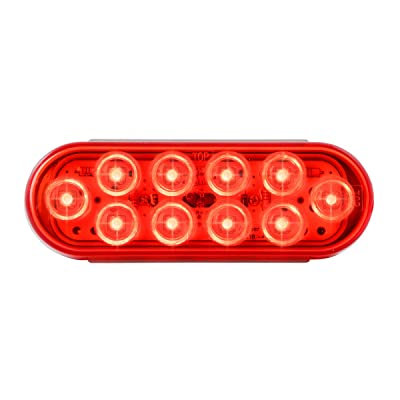 Grand General 77442 Oval Mega-10 Red/10-LED Sealed Light, 1 Pack: Automotive
