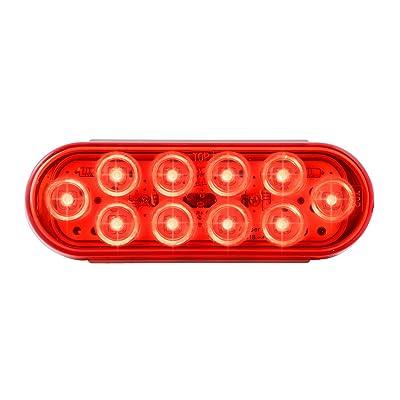 Grand General 77442 Oval Mega-10 Red/10-LED Sealed Light, 1 Pack: Automotive