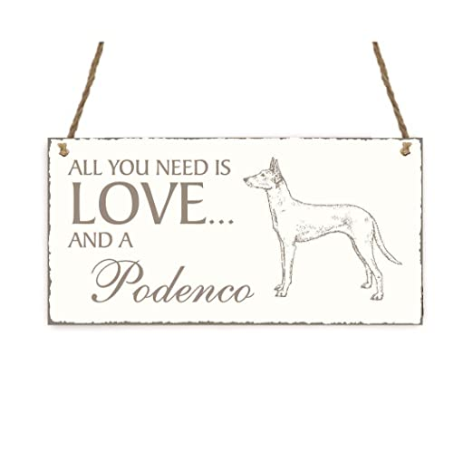 Placa decorativa, « All You Need is Love And A podenco ...