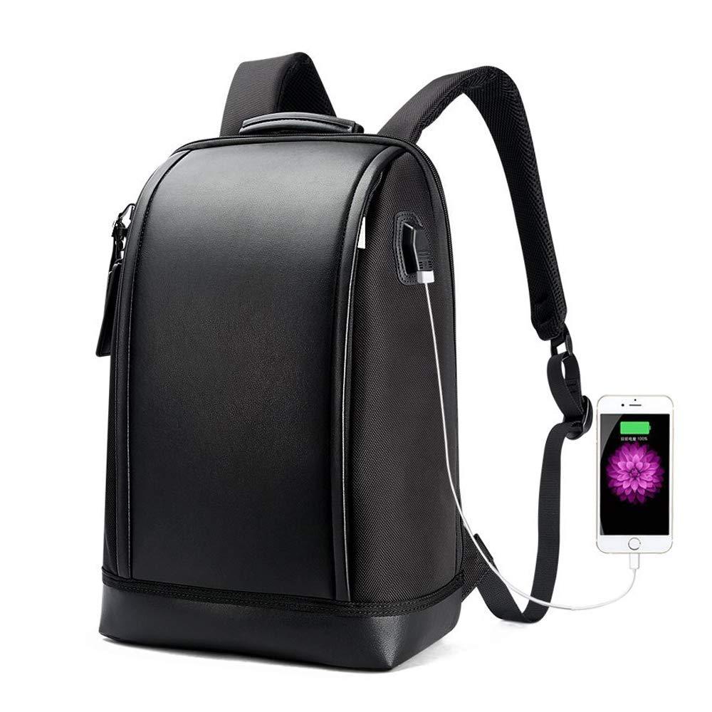 Bopai バックパック 盗難防止 USBチャージポート付リュックサック トラベルバック 15.6インチノートパソコン Macbook Pro 収納可能 ビジネスバックパック L Bopai20170801 L 15.6 inch - Black2 B074FT5YM6