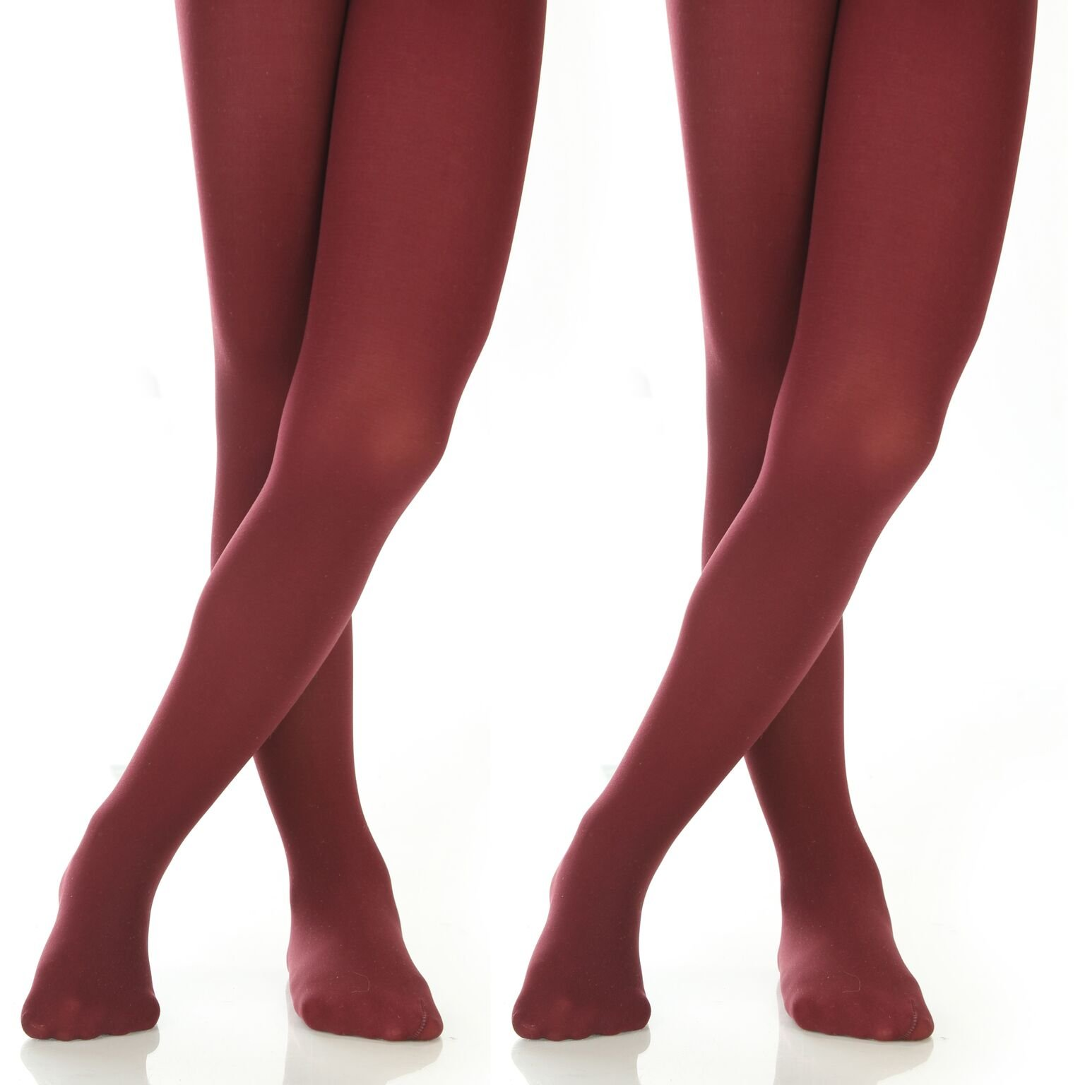 adec0fc3a016b Galleon - Silky Toes Girls' Microfiber Opaque Footed Tights- 2 Per Pack  (Size: 12-14, Burgundy (2 Pairs))