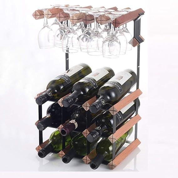 Estante para Vinos Colgante Portavasos Colgante De Madera ...