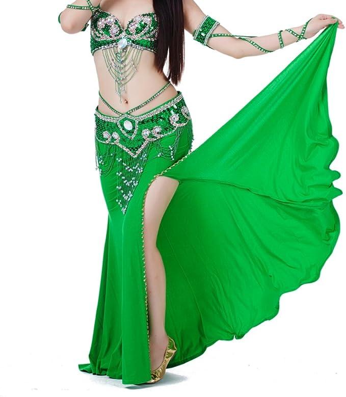 ChYoung Vestidos de Danza del Vientre para Mujer Niñas Damas Rumba ...