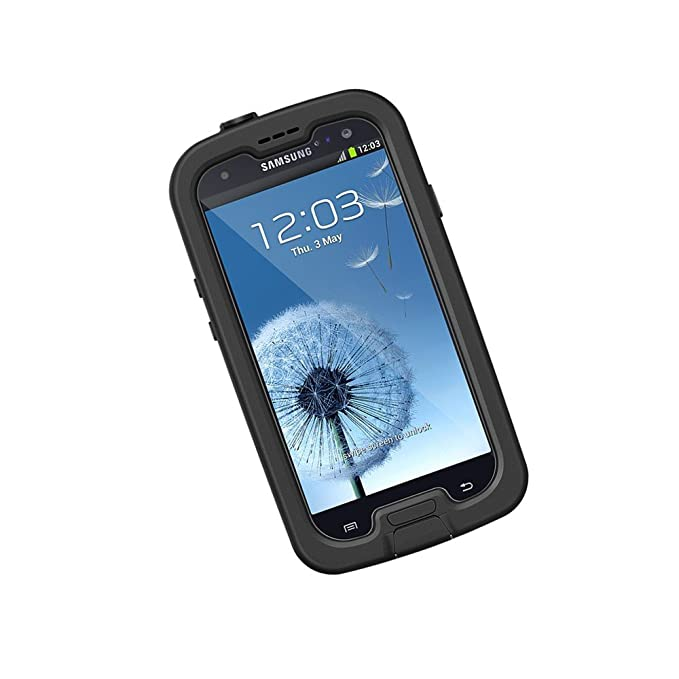 official photos be491 034bf LifeProof FRĒ Samsung Galaxy S3 Waterproof Case - Retail Packaging -  BLACK/CLEAR