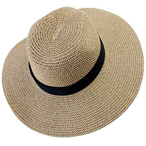 Small Hat Cap (Samtree Women's Foldable Beach Cap,Wide Brim Roll up Straw Sun Hat for Small Head Size (01-Khaki))