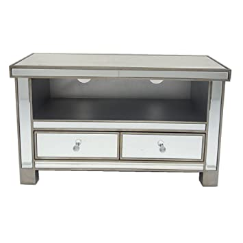 new arrival ceff2 ddbab MissSnower Mirrored Glass Widescreen TV Stand Unit: Amazon ...