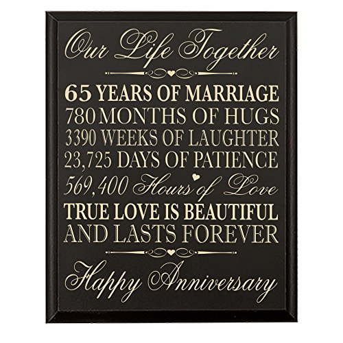 65th Wedding Anniversary Wall Plaque Gifts for Couple parents, 65th Anniversary Gifts for Her,him 65th Wedding Anniversary Gifts for Him 12