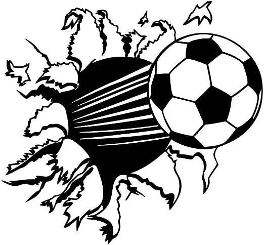 Fútbol adhesivo, MKQPOWER 3d pegatinas de pared de fútbol balón de ...