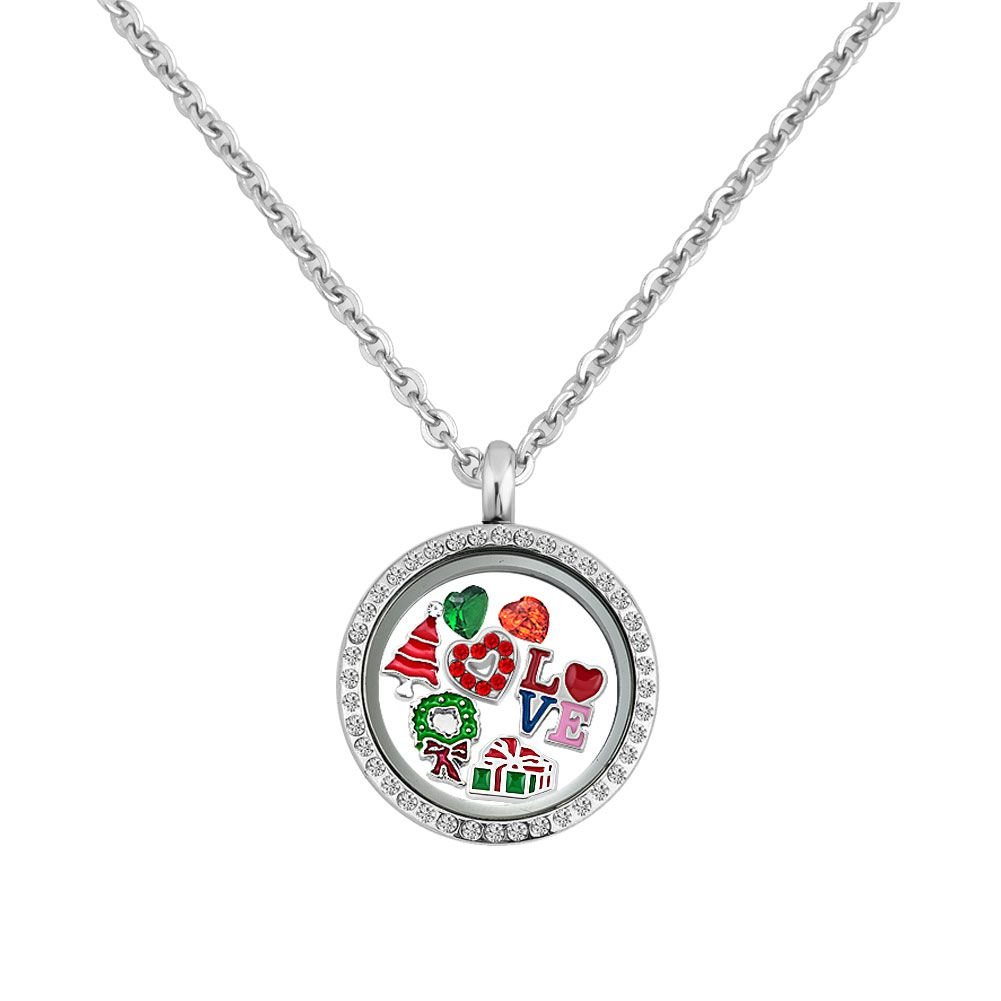 DemiJewelry-Christmas-Floating-Charm-Living-Memory-Locket-Pendant-Necklace