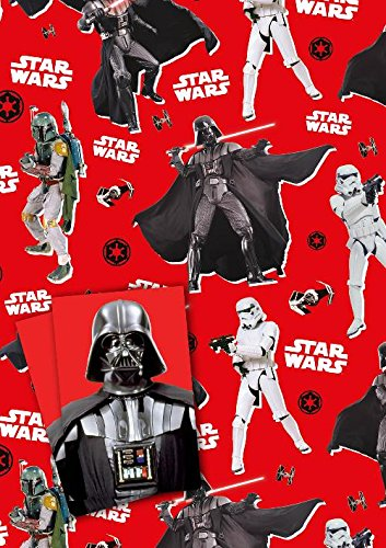 Amazon.com: Star Wars - Gift Wrapping Paper [2 Sheets & 2 Tags ...