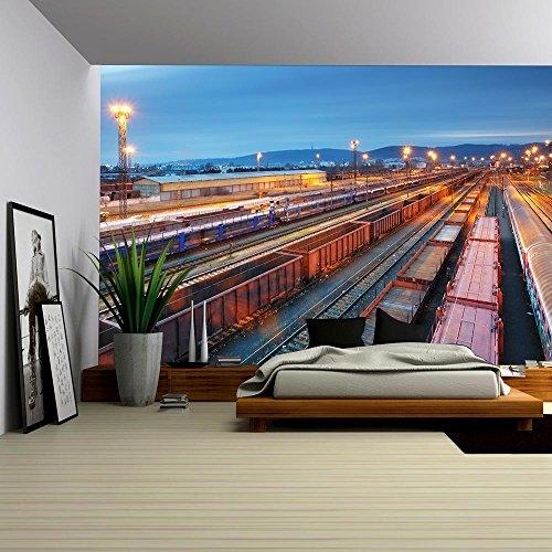 Stock Photo Cargo Train Trasportation Freight Railway