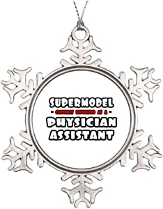 PotteLove Personalized Ideas for Decorating Christmas Trees Supermodel Physician Assistant Hospital Monogrammed Snowflake Ornaments