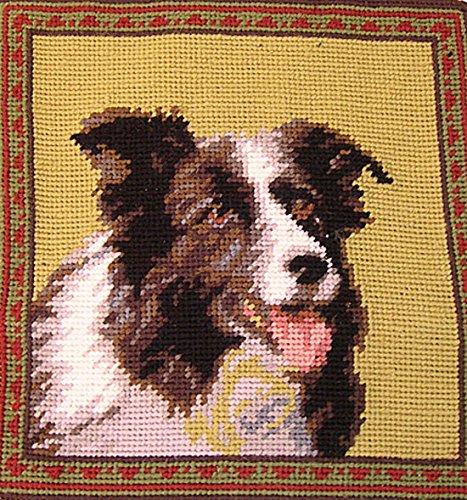 Border Collie Dog Needlepoint Throw Pillow 10