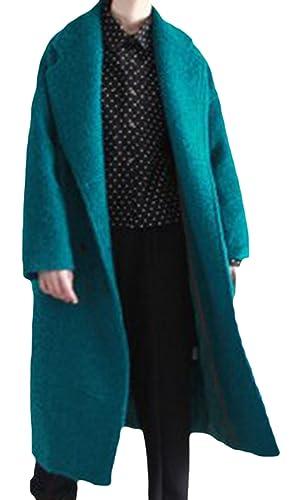 Frieda Fashion - Abrigo - Opaco - para mujer petróleo M