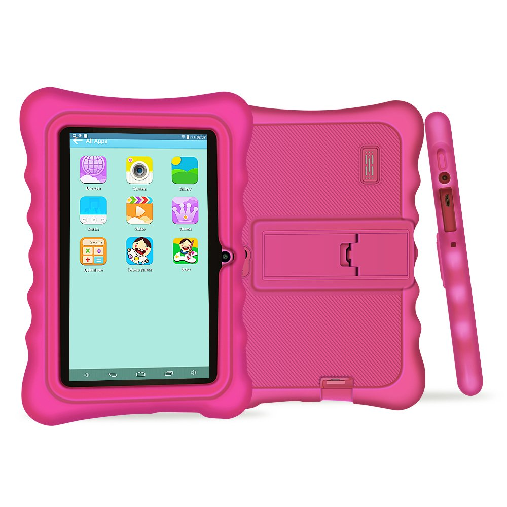YUNTAB Q88H Kids Edition Tablet, 7'' Display, 8 GB, WiFi, Kids Software Pre-Installed, Premium Parent Control, Educational Game Apps (Pink)