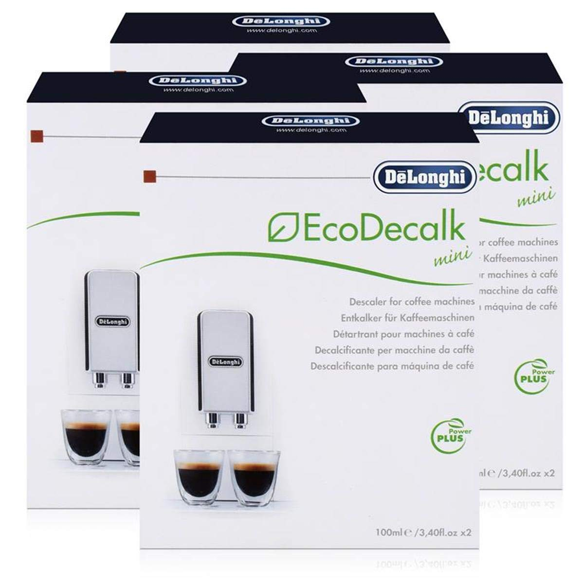 Delonghi Descaler Ecodecalk 2 x 100ml (Pack of 4)