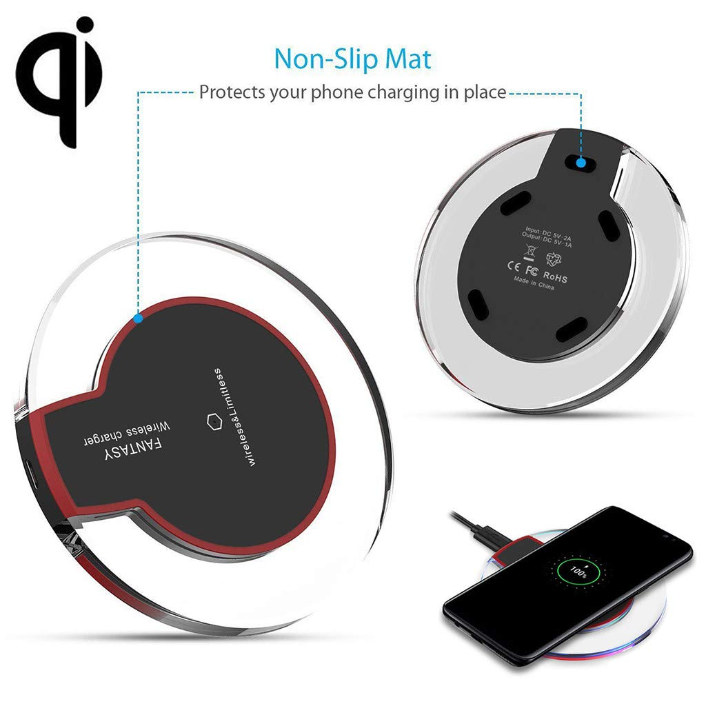 Wireless Charger for Samsung Galaxy S10/S10E/S10 Plus Qi Certified Fast Wireless Charging Pad Phone Charger for Samsung Galaxy S10 Plus (Black) by Buolo-Phone Charger (Image #5)