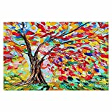 DiaNoche Woven Area Rugs, Kitchen Mats, Bath Mats by Karen Tarlton Poetry of a Tree Small 2x3 Ft