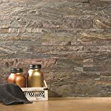 Aspect Peel and Stick Stone Overlay Kitchen Backsplash - Weathered Quartz (approx. 15 sq ft Kit) - Easy DIY Tile Backsplash