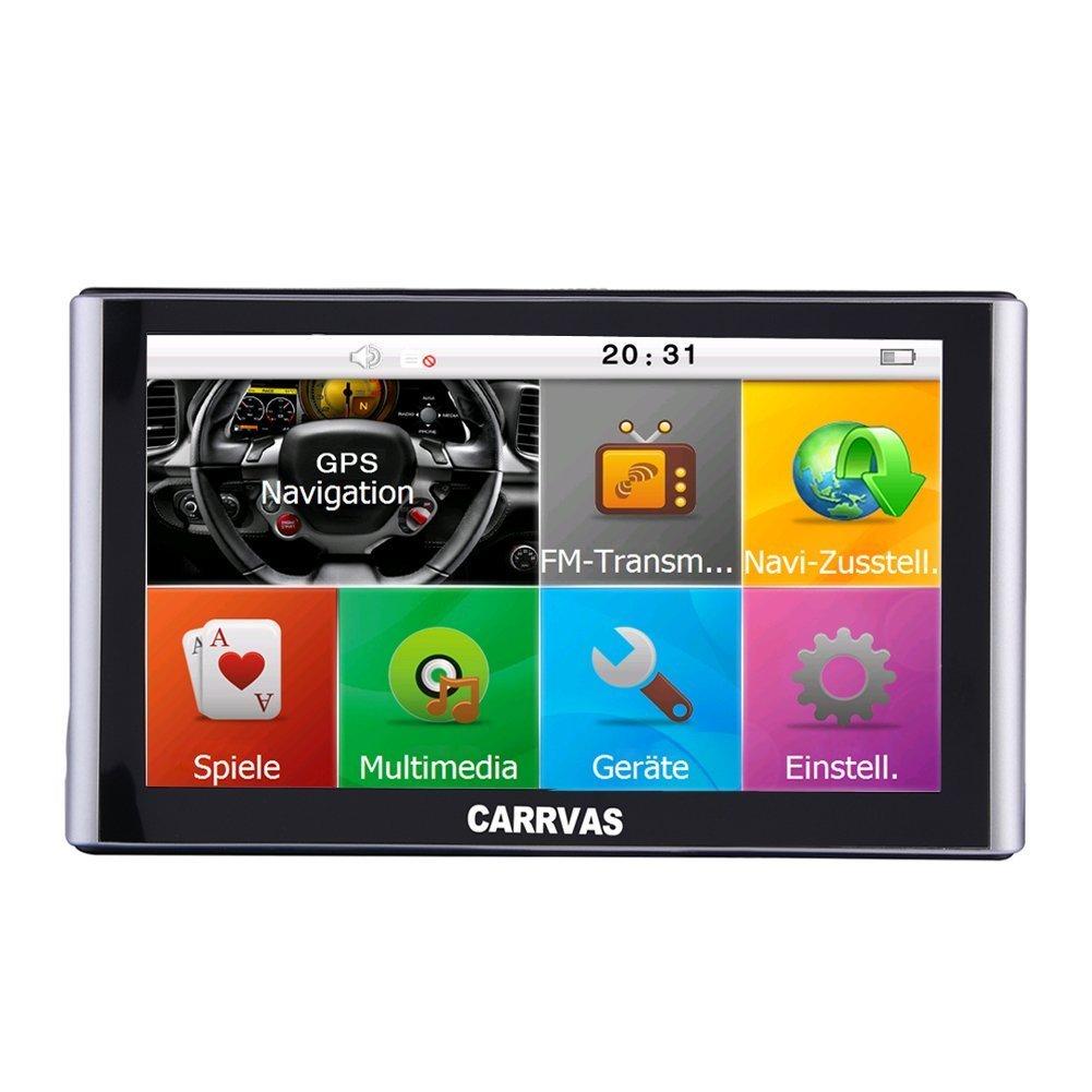 carrvas 7 'GPS Europe Traffic GPS avec carte mises à jour à vie pour toute l'Europe pour voiture aide à la conduite Commande vocale