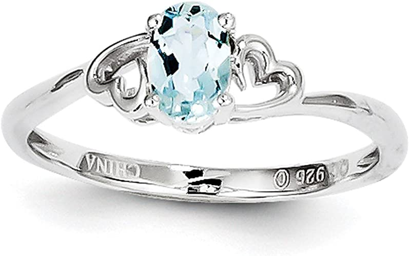 Aquamarine Blue Floral Cluster Ring in SOLID 925 Sterling Silver 9 /& 10 Sz