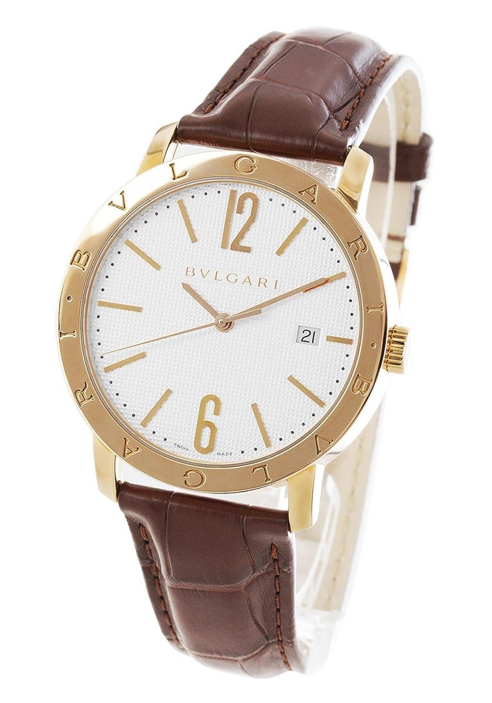 ブルガリ ブルガリブルガリ PG金無垢 アリゲーターレザー 腕時計 メンズ BVLGARI BBP40WGLD[並行輸入品] B07CNBTMD1