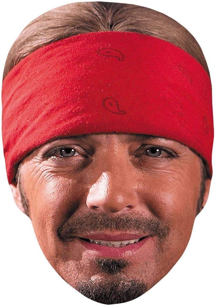 Amazon Com Bret Michaels Bandana Celebrity Mask Flat Card Face