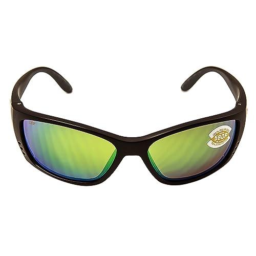 521ca78484 Amazon.com  Costa Del Mar Fisch Sunglasses Black Green Mirror ...