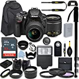 Nikon D3400 24.2 MP DSLR Camera (Black) Premium Kit with AF-P DX NIKKOR 18-55mm f/3.5-5.6G VR Lens + 32GB Memory + Filters + Macros + Deluxe BackPack + Professional Accessories