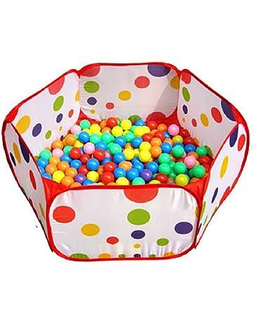 Amison Lindo Pop Up Hexagon lunares niños pelota Play piscina tienda de campaña de transporte Tote