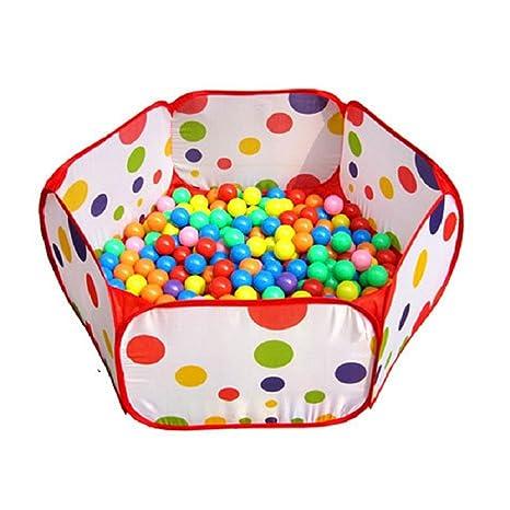 Amison Lindo Pop Up Hexagon lunares niños pelota Play piscina ...