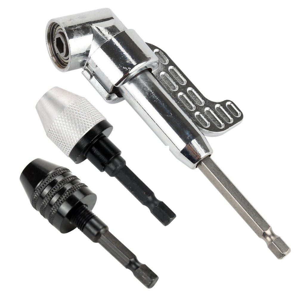 105 Degree Right Angle Drill Driver Extension Screwdriver Drill Attachment 1//4inch Hex Bit Socket Screwdriver Holder Ada Breynet Socket Adapter Impact Hex Shank Drill Bits Bar Set 1//4 3//8 1//2 Bits