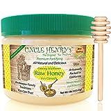 Raw Honey from Canada, #1 Best Taste Creamy Premium Fresh Farmers Market Quality. Big 1lb Double-Sealed Artisan California Product, Original Green Lid 'You'll Love it' Henry's Guarantee
