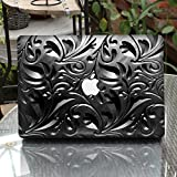 GTNINE MacBook Sticker Metal Leaf Pattern Full Set MacBook Vinyl Decal Laptop Skin Removable Sticker For Apple New MacBook Pro 15'' with Touch Bar(A1707)