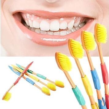 tradeshoptraesio® - Juego 4 piezas Cepillos Cepillo de dientes cerdas suaves protector de encías: Amazon.es: Belleza